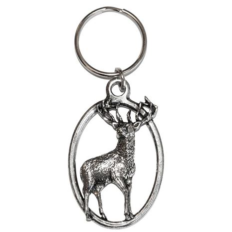 A.R & T.S Brown Pewter Keyring No.21 Stag