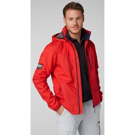 Helly Hansen Crew Hooded Jacket - Alert Red