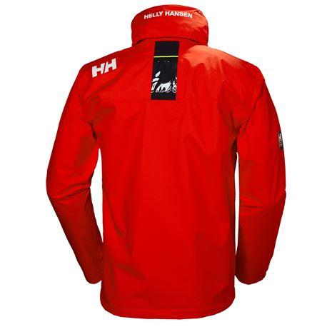 Helly Hansen Crew Hooded Jacket - Cherry Tomato - Rear