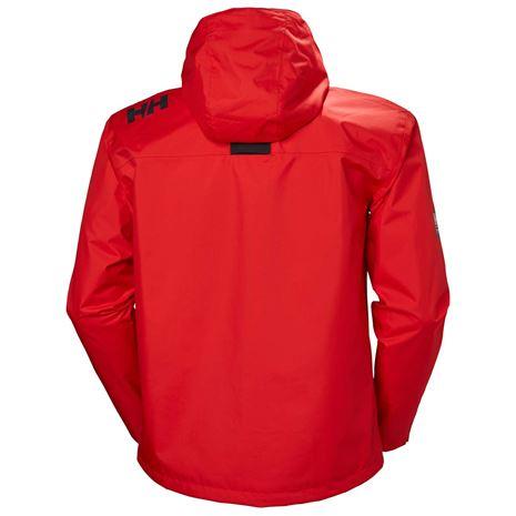 Helly Hansen Crew Hooded Jacket - Alert Red - Rear