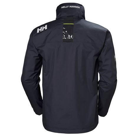 Helly Hansen Crew Hooded Jacket - Graphite Blue - Rear