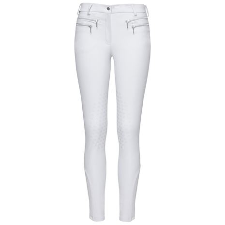 Mountain Horse Amy Breeches Knee White - Front View