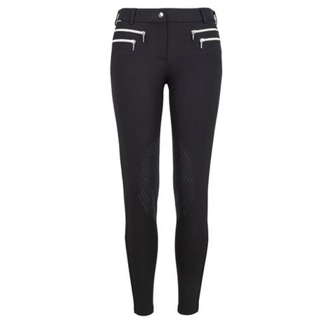 Mountain Horse Amy Breeches Knee - Black - Front View