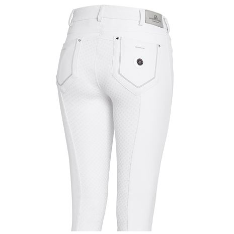 Mountain Horse Amy Breeches Knee White - Rear View