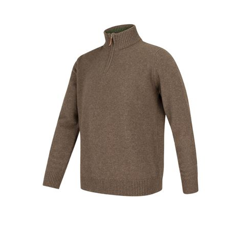 Hoggs of Fife Lothian ¼ Zip Neck Pullover - Grey