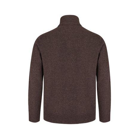 Hoggs of Fife Lothian ¼ Zip Neck Pullover - Redwood