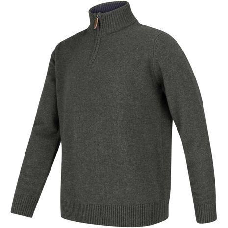 Hoggs of Fife Lothian ¼ Zip Neck Pullover - Indigo