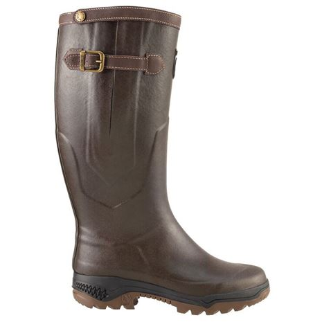 Aigle Parcours® Signature Leather-Lined Wellington Boot - Brown