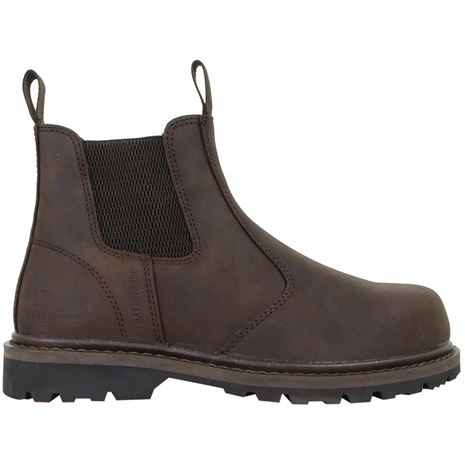 Hoggs of Fife Zeus Safety Dealer Boots- Crazy Horse Brown