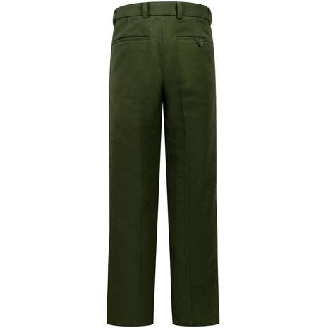 Hoggs of Fife Monarch Moleskin Trousers - Dark Olive - Rear