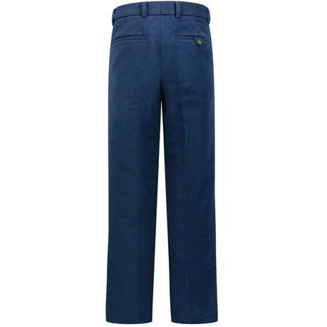 Hoggs of Fife Monarch Moleskin Trousers - Navy - Rear