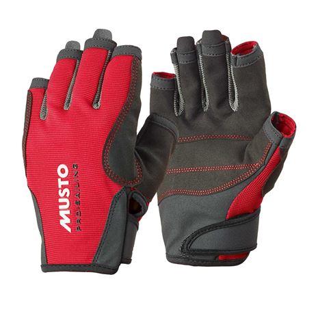 Musto Essential Sailing Short Finger Glove - True Red