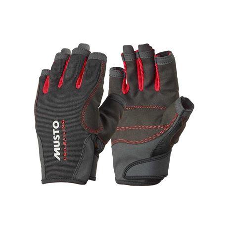 Musto Essential Sailing Short Finger Glove - Black