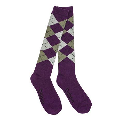 Dublin Argyle Socks - Purple/Ash