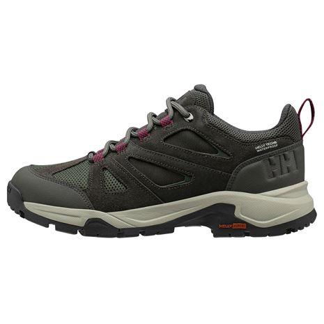 Helly Hansen Women's Switchback Trail Low HT Shoe - Beluga / Forest Night / Purple