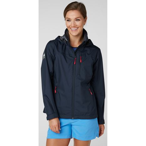 Helly Hansen Womens Crew Hooded Jacket - Navy