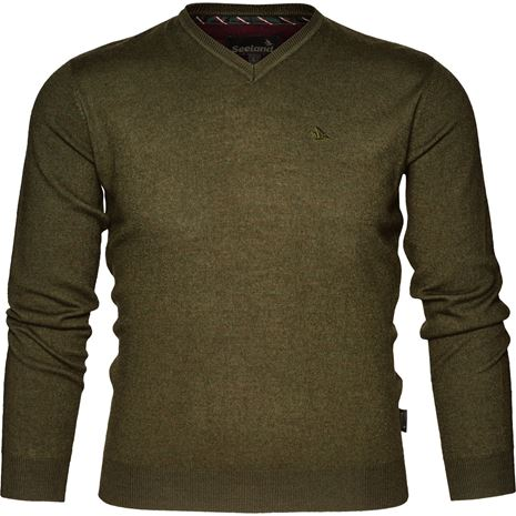 Seeland Compton Pullover - Pine Green - Front