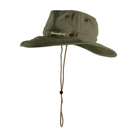 Snowbee Wide Brim Ranger Hat in Dark Olive.