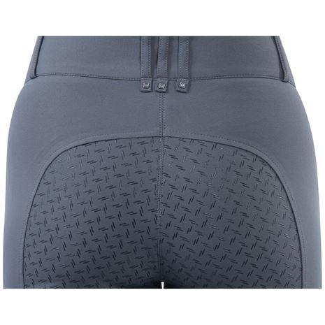 Dublin Pro Form Gel Full Seat Breeches - Charcoal - Detail Full Seat