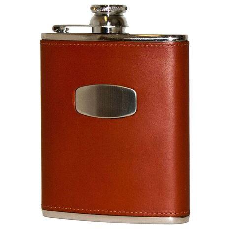 Bisley 6oz Brown Leather Flask