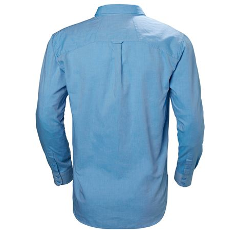 Helly Hansen Crew Club LS Shirt - Cornflower - Rear