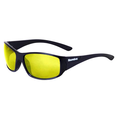 Snowbee Spectre 'Dry Fly' Sunglasses - Black/Yellow Unpolarised