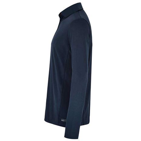 Dubarry Freshford Unisex Long Sleeved Polo Shirt - Navy
