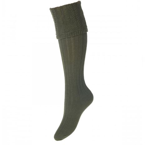 House of Cheviot Lady Glenmore Sock - Spruce
