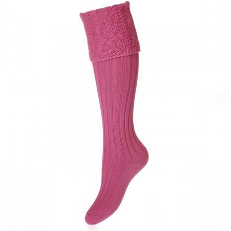 House of Cheviot Lady Glenmore Sock - Dusky Pink