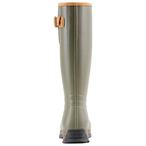Ariat Women's Burford Insulated Wellington  Boot - Olive Green - Rear