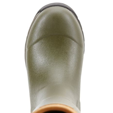 Ariat Women's Burford Insulated Wellington Boot - Olive Green - Toe Detail
