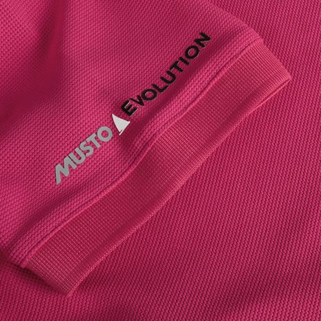 Musto Women's Evolution Pro Lite Plain Short Sleeve Polo Shirt - Magenta