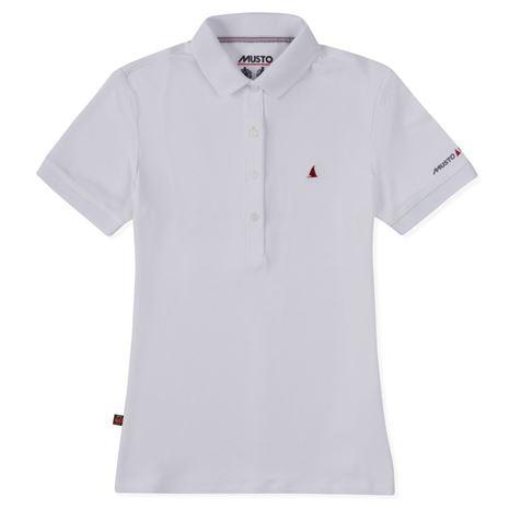 Musto Women's Evolution Pro Lite Plain Short Sleeve Polo Shirt - White