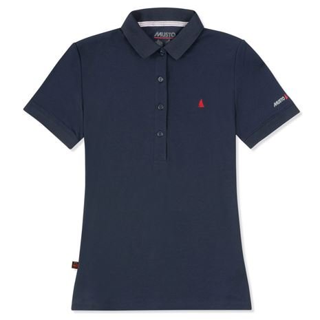 Musto Women's Evolution Pro Lite Plain Short Sleeve Polo Shirt - True Navy