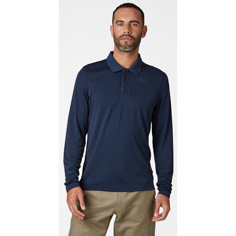 Helly Hansen HH Lifa Active Solen LS Polo Shirt - Navy