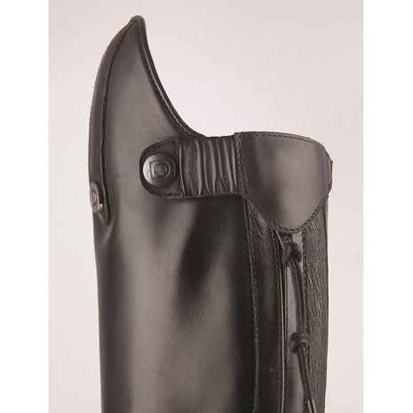 Dublin Galtymore Tall Field Boots - Black - Top Popper Button Detail