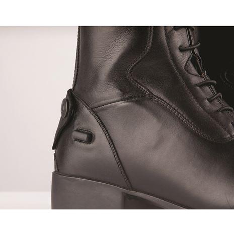 Dublin Galtymore Tall Field Boots - Black - Spur Bar and Popper Button Detail