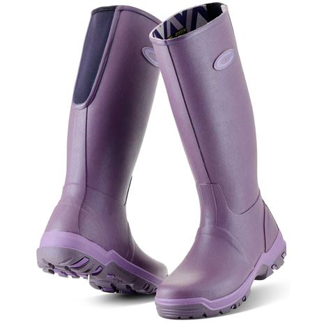 Grubs Rainline Wellington Boots - Heather