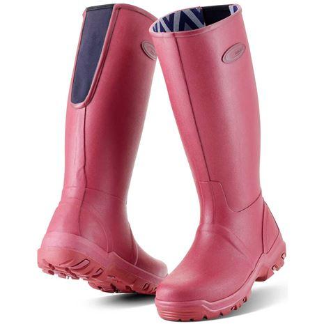 Grubs Rainline Wellington Boots - Rosewood
