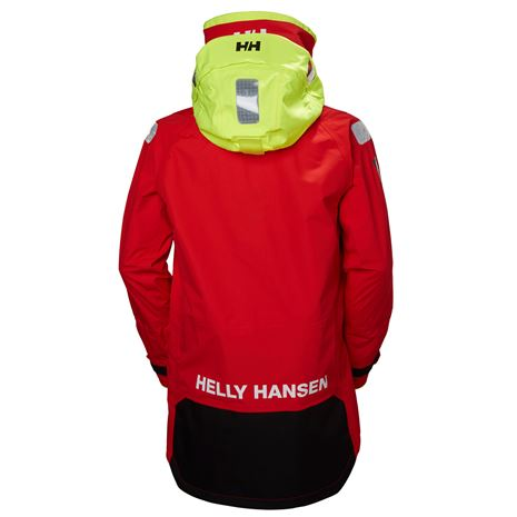 Helly Hansen Aegir Ocean Jacket - Alert Red - Rear