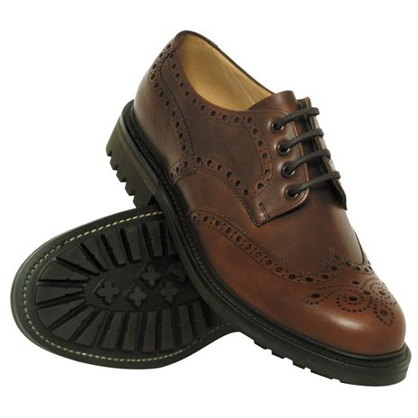 Hoggs of Fife Glengarry Brogue Lace-Up Shoe