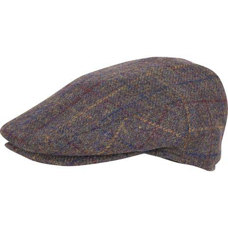 Jack Pyke Wool Blend Flat Cap - Brown Check
