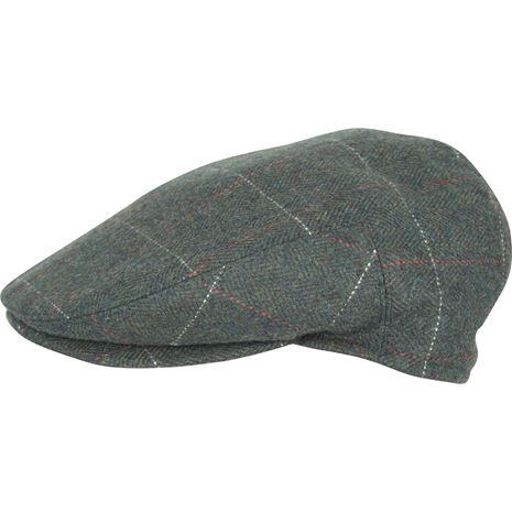 Jack Pyke Wool Blend Flat Cap - Green Check