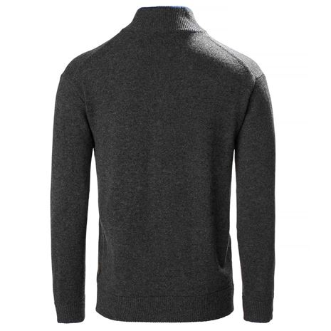 Musto Country Zip Neck Knit - Charcoal