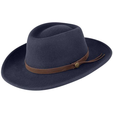 Hoggs Of Fife Perth Crushable Felt Hat - Navy