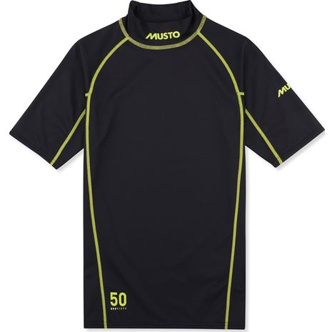 Musto Sunblock Short Sleeve Rash Guard - Black