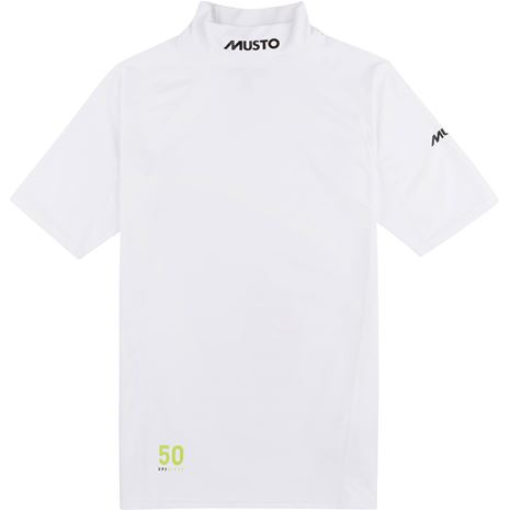 Musto Sunblock Short Sleeve Rash Guard - White