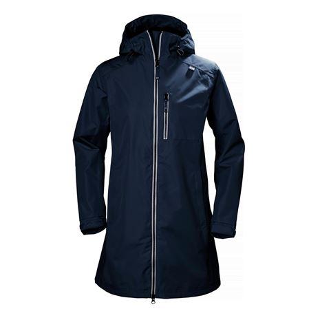 Helly Hansen Womens Long Belfast Jacket - Evening Blue