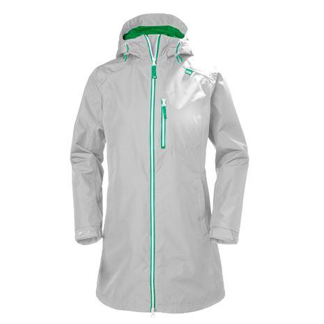 Helly Hansen Womens Long Belfast Jacket - Grey Fog
