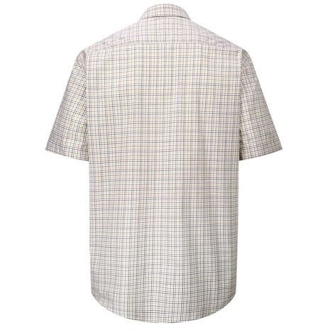 Hoggs of Fife Muirfield Short Sleeve Shirt - Brown Green